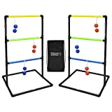 GoSports Indoor / Outdoor Ladder Toss Game Set with 6 Rubber...
