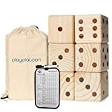 Play Platoon Lawn Dice - Giant Wooden Yard Dice Game for...