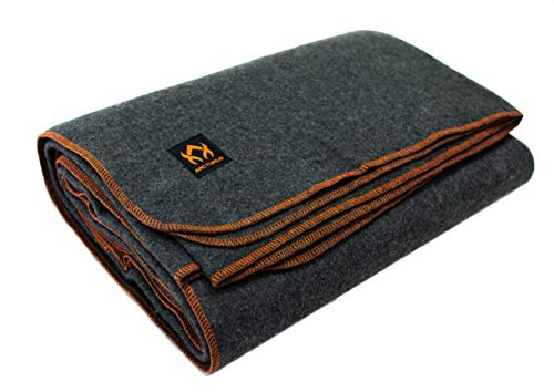 A heavy wool blanket is a great part of anyone's camping gear.