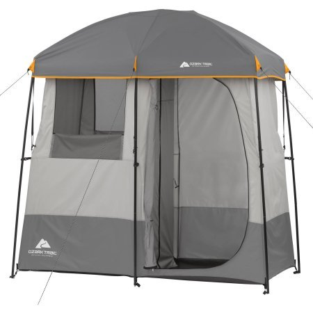 Ozark Trail 2-room camping shower tent.