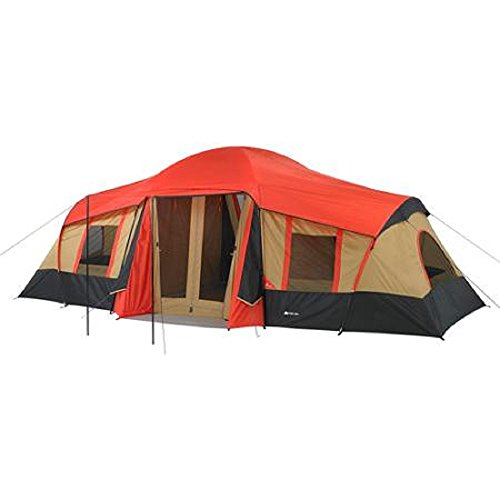 Ozark Trail 10-Person 3-Room Large Family Camping Tent w/ Front Porch