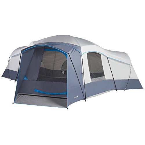 16-Person Weather Resistant Ozark Trail 23.5' x 18.5' Family Cabin Camping Tent