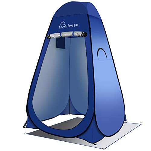 Pop-up privacy tent for showers, changing, toilets and more.