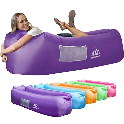 Inflatable lounger air sofa for camping.