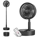 OPOLAR 2021 8-Inch Rechargeable Battery Operated Foldaway Fan, Remote Control, Oscillating, Timer, 7200mAh 4-Speed, Cordless Standing Pedestal Fan for Home Office Outdoor Camping Tent Travel