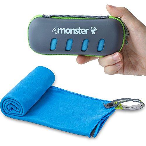 Compact microfiber travel towel