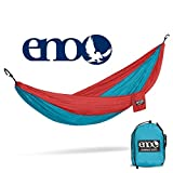 ENO, Eagles Nest Outfitters DoubleNest Lightweight Camping Hammock, 1 to 2 Person, Forest/Charcoal