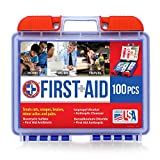 Be Smart Get Prepared 100 Piece First Aid Kit, Clean, Treat and Protect Most Injuries with The kit That is Great for Any Home, Office, Vehicle, Camping and Sports. 0.71 Pound
