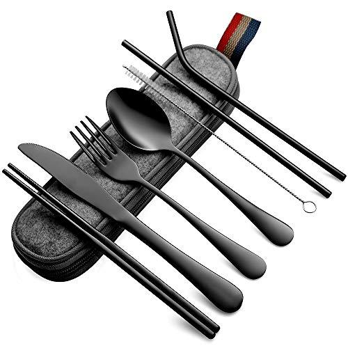 Stainless stell camping utensil set