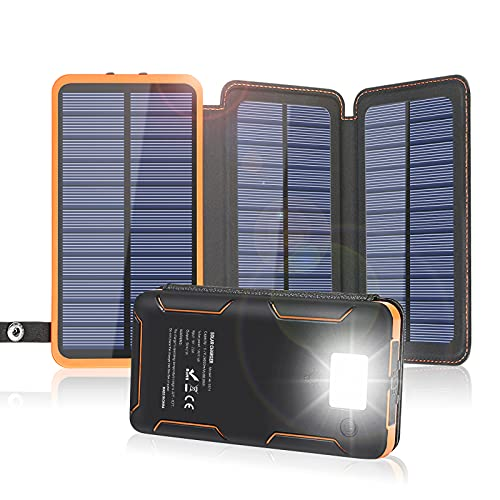 Solar charger battery for camping.