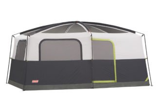 Coleman Signature Prairie Breeze 14x10 camping tent with no rainfly.