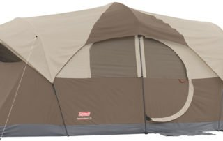 Coleman WeatherMaster 17x9 family camping tent.
