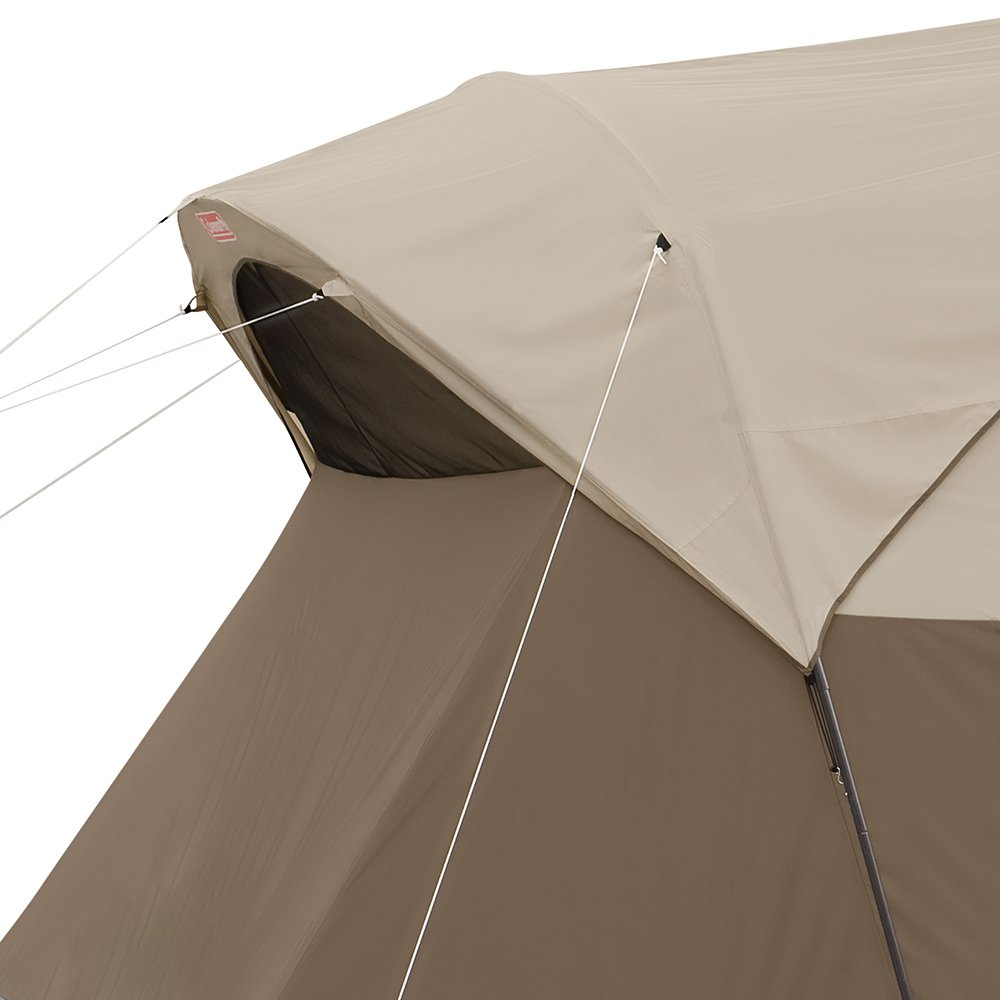 Coleman WeatherMaster 17x9 camping tent side view.