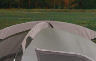 Coleman WeatherMaster 17x9 tent top poles view.