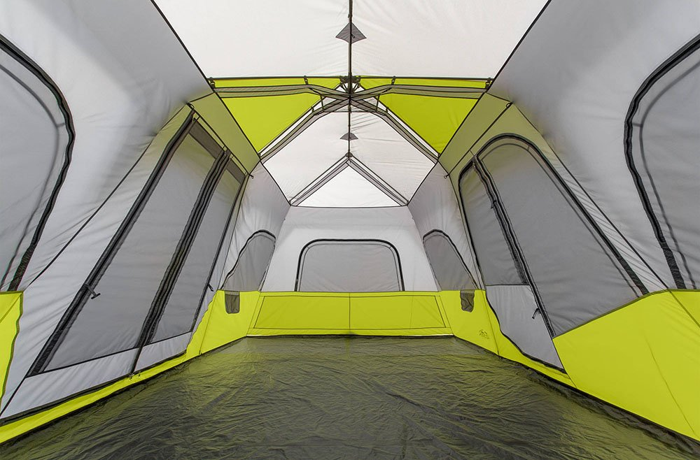 Core 12 Person 18x12 Family Camping Tent Inside View