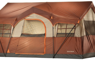 Field & Stream Highlands Lodge 12 person 16x11 large cabin tent front view.
