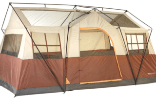 Field & Stream Highlands Lodge 12 person 16x11 family camping tent with no rainfly.