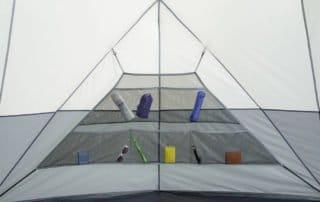 Ozark Trail 12 Person 16x16 sphere tent organizer.