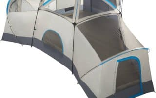 Ozark Trail 16 person 23x18 large family camping tent top view.