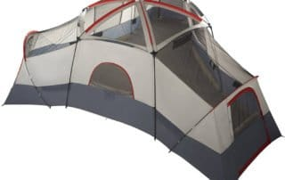 Ozark Trail 25x21 20 person large family camping tent with no rainfly.