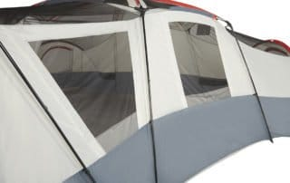 Ozark Trail 25x21 20 person camping tent windows.