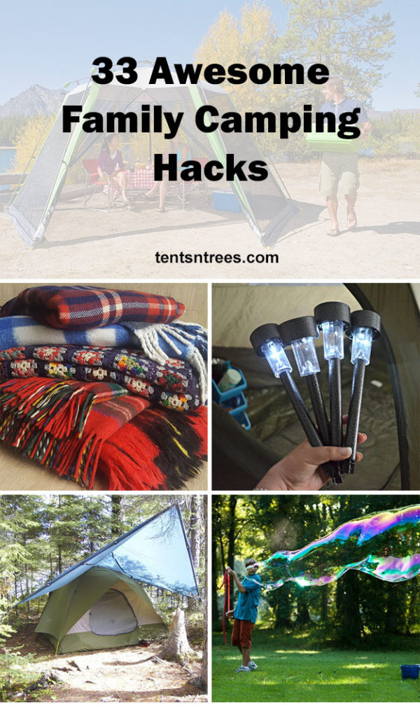 33 Amazing Ideas That Will Make Your House Awesome: 33 Awesome Family Camping Hacks