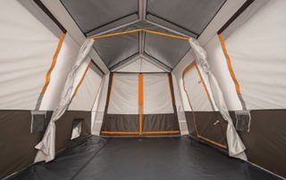 Bushnell Shield Series 9 Person 15x9 instant camping tent inside view.