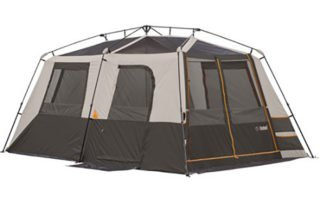 Bushnell Shield Series 9 Person 15x9 instant cabin tent with no rainfly.