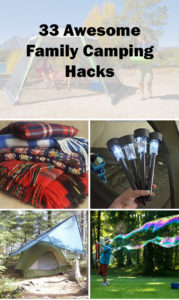 33 family camping tips and hacks.