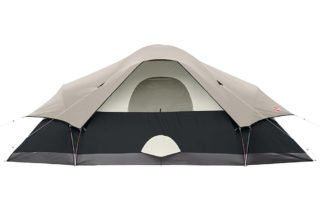 Coleman Red Canyon 8 Person 17x10 large camping tent back view.