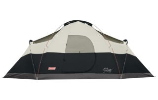 Coleman Red Canyon 8 Person 17x10 family tent without a rainfly.