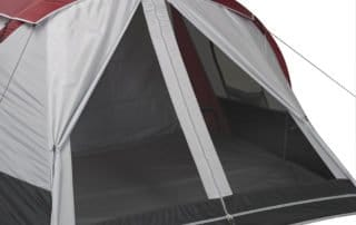 Ozark Trail 10 person 20x10 family camping tent side entrance.