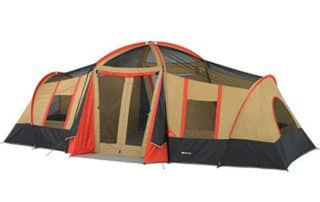 Ozark Trail 10 Person 20x11 large camping tent without rainfly.