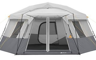 Ozark Trail 11 Person 17x15 instant hexagon cabin tent.