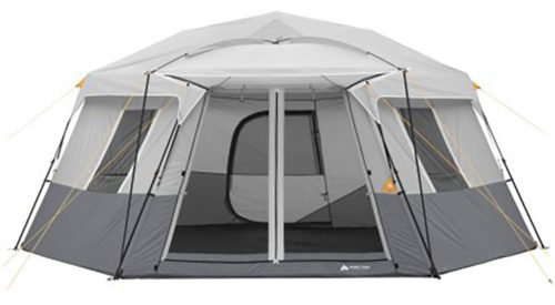 Ozark Trail 11 Person 17x15 instant hexagon cabin tent.