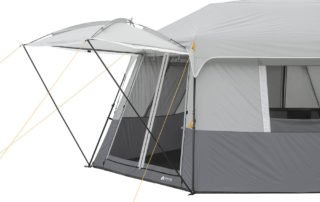 Ozark Trail 11 Person 17x15 instant hexagon cabin tent awning.