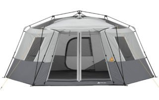 Ozark Trail 11 Person 17x15 instant hexagon camping tent without a rain fly.