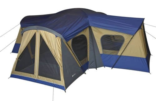 Ozark Trail Base Camp 14 Person 20x20 4 room tent.