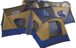 Ozark Trail Base Camp 14 Person 20x20 4 room large camping tent no rainfly.