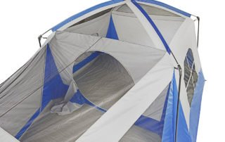 Wenzel Klondike 8 person 17x11 family camping tent inside view.