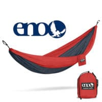 Eagles Nest Outfitters DoublNest hammock in red and charcoal