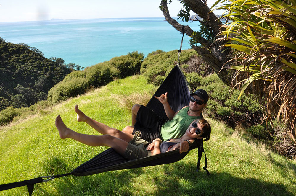 Eagles Nest Outfitters double nest hammock at the beach.