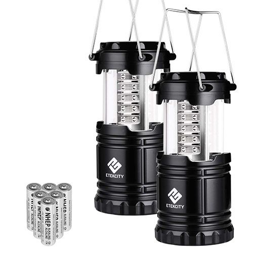 LED camping lantern. A great camping gift for families that love to go camping.