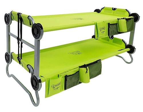 Space saving kids camping cot bunk beds.