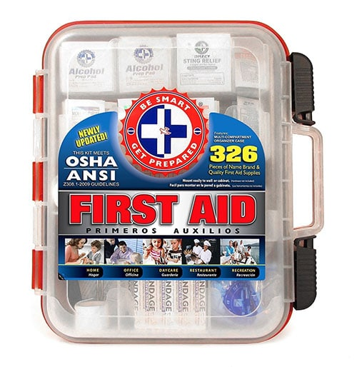 326 camping first aid kit great for families who love to camp.