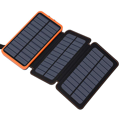 Solar powered battery bank camping gifts for families