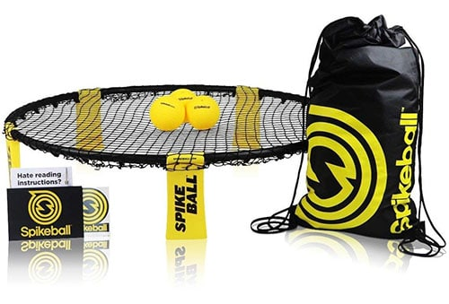 Spikeball 3 ball set makes a great camping game.