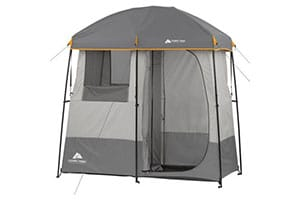 Ozark Trail 2-room shower tent.
