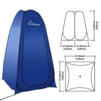 Wolfwise pop up privacy tent dimensions.