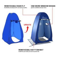 Wolfwise pop up privacy tent update.